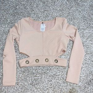 NWT Nude Long Sleeve Crop Top